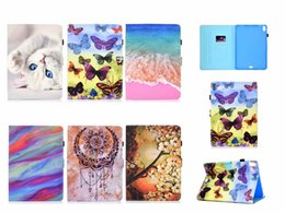 ipad butterfly case Canada - Case For IPAD Pro 11 11inch 2018 Luxury Leather Wallet Tiger Unicorn Cat Panda Butterfly Panda Beach Sea ID Card Slot Cover Flip Pouch