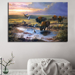 wall scenery posters NZ - Wild Scenery Landscape HD Painting Posters Canvas Painting Oil Wall Art Print Pictures For Living Room Home Decoracion