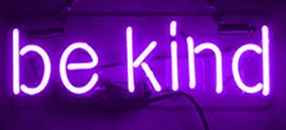 Discount store window displays - Neon Signs Be Kind Real Glass Beer Bar Pub Store Party Hotel Ktv Recreation Room Wall Windows Display Neon Signs 14x7