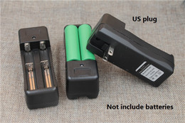 Battery Slot Australia - Dual slots Battery Charger Universal Rechargeable 3.7V Li-ion battery charging adapter EU US plug For 18650 16340 torch light battery charge