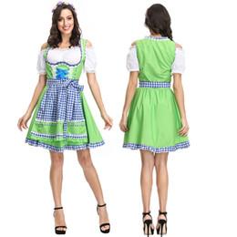 Bavarian costume women online shopping - New Arrived Oktoberfest Dress Up Dirndl for Adult Women Bavarian Octoberfest German Wench Beer Maid Costume
