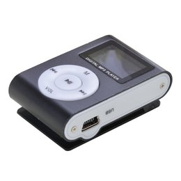 mini mp3 player case 2019 - Portable Mini Digital MP3 Music Player Clip USB Radio LCD Screen Support 32GB Micro SD TF Card 3.5mm Jack Metal Case MP3