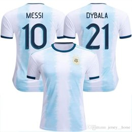 3d56b35dd74 Wholesale New Argentina World Cup soccer Jersey 18 19 20 MESSI home DI  MARIA AGUERO thai quality Argentina football shirts Away 2019