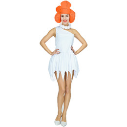 stone costumes Australia - Sexy Wilma Flintstone Costumes Stone Age Savage Cosplay Carnival Halloween Flintstone Africanl Hunter Indian Clothing