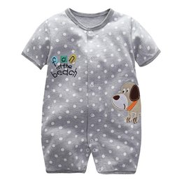 jumpsuit babies Australia - Summer Cartoon Baby Rompers infant boy girl Jumpsuits Short Sleeve 100% Cotton newborn one pieces toddler clothes newborn