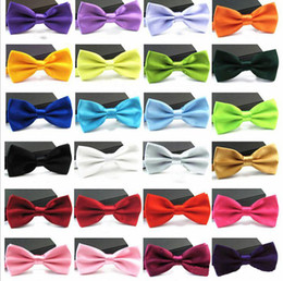 $enCountryForm.capitalKeyWord Australia - Mens Bow Tie Boys Candy Color Bow Tie Classic Plain General Neckties Fashion Butterfly Bowknot Tie Wedding Party Suit Accessories