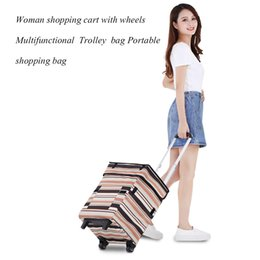 fold hand bag Australia - Folding hand cart woman portable bags cart shopping bags trailer trolley bag light household artifact shopping with wheel