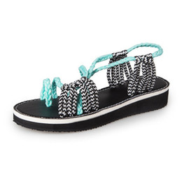 Jelly Shoes Melissa Flat Australia - Hohner Rope Sandals Jelly Woman Boho Sandals Ladies Thong Melissa Shoes Bunion Woven