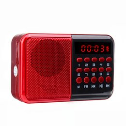 Discount memory card packing - USB Rechargeable Mini Portable Radio Handheld Digital FM TF Card MP3 Player Speaker with LED Display Power-off memory fu