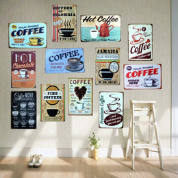 bar signs for home 2019 - COFFEE Tin Signs Metal Plates for Wall Bar Home Art Craft Decor Iron Poster Cuadros 30X20CM A-5230 cheap bar signs for h