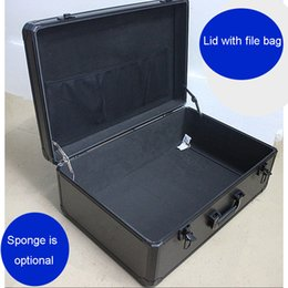 product samples UK - large tool case Portable toolbox Aluminum alloy box Storage box Document safe Product demonstration Sample display toolbox