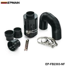 Alimentação Universal Fria Intake Indução Kit Fibra de Carbono Filtro de ar Caixa sem ventilador para Mini Cooper S R53 EP-FB2303-NF em Promoção