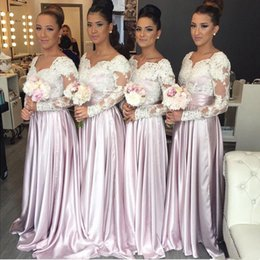 ed9cf3da7ba 2019 New A-line Bridesmaid Dresses Floor Length Lilac Lace Appliqued Plus  Size Maid of Honor Evening Prom Dresses Custom Made bm0634