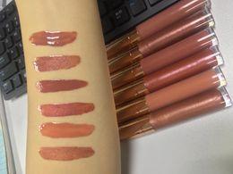 nude lips 2019 - No logo Lips Makeup lip gloss Waterproof Moisturizing Vegan Nude Color shiny glitter liquid Lip Gloss lipstick Glossy Sh