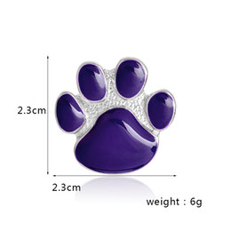 Pet Lovers Gifts Australia - Purple paw Brooch Pet jewelry Dog cat lover jewelry Gift for animal lover Paw cat dog brooch Jewelry