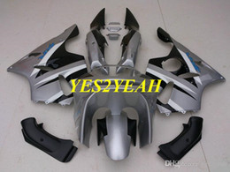 $enCountryForm.capitalKeyWord UK - Fairing body kit for KAWASAKI Ninja ZX6R 636 94 95 96 97 ZX 6R 1994 1997 Silver black Fairings bodywork+Gifts KS05