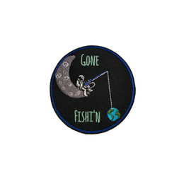 $enCountryForm.capitalKeyWord Australia - Funny Astronaut Front Size Embroidery Iron On Patch For Clothing Custom Design Shirt Jeans Jacket Applique Free Shipping