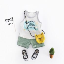 $enCountryForm.capitalKeyWord Australia - Children wear sports suit kid cotton boy girl clothes dolphin printing T-shirt shorts two-piece leisure holiday Beachwear