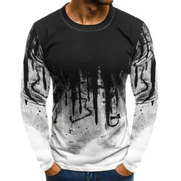 long bottom white t shirt NZ - Men White Camouflage Printed Male T Shirt Bottoms Top Tee Male Hiphop Streetwear Long Sleeve Fitness Tshirts
