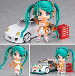 racing miku figure Australia - NEW hot 10cm Q version Hatsune Miku Race car driver movable action figure toys collection christmas toy doll with box