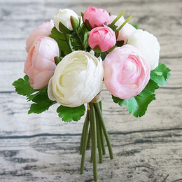$enCountryForm.capitalKeyWord Australia - 1bunch Artificial Silk Rose Peony 10 Heads Bridal Hand Flowers Bouquet Flores For Home Wedding Decoration Mariage Flowers Wreath