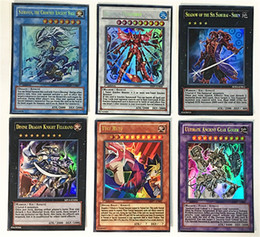 Flashing giFt boxes online shopping - Duel Monsters rare Flash card English version Battle Game cards set Iron box boy and girl fashion gift game yc I1