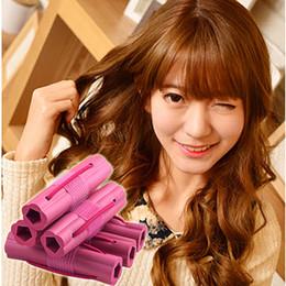 $enCountryForm.capitalKeyWord NZ - 6pcs Magic Foam Sponge Hair Curler DIY Fashion Wavy Hair Travel Home Use Soft Hair Curler Rollers Styling Tools UN169