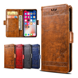 iphone shot NZ - Luxury Embossed Flowers Cover Wallet Vintage Leather Case For Doogee Y6 Mix 2 Mix Lite Shoot 1 2 BL5000 BL7000 Coque Flip Cover