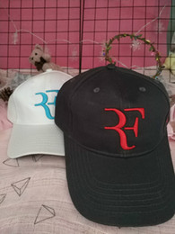 ivory caps best NZ - Best selling Fashion Roger Federer RF Tennis Fans Baseball Cap Mesh Summer Cool Caps Men Women Adjustable Unisex Adult Cool Ne Fast shipping