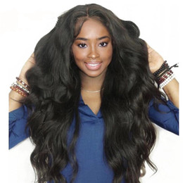 Cheap Remy Indian Human Hair Wigs NZ - 100% Unprocessed Brazilian Virgin Remy Human Hair Wigs Full Lace Wigs Body Wave 9A Grade Swiss lace wig wholesale cheap