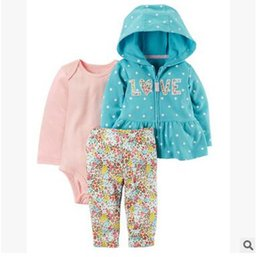 christmas clothes Australia - New Best selling children's clothing infant boys and girls cotton long-sleeved hooded 3 piece suit spring and autumn models