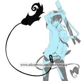Discount costume ver - Costumes Accessories Costume Props Ao no Blue Exorcist Okumura Rin Tail Black Blue Ver Fire Cosplay Accessorie Prop