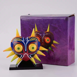 Legend Zelda Figures UK - 12cm The Legend Of Zelda Majora's Mask Majoras Mask With Light Table Lamp Pvc Action Figures Toys Anime Figure Toys For Children