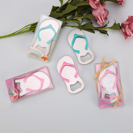 99c36c5e2229 Creative Wedding Party Favor Gift Flip Flop Beach Thong Bottle Openers  Slippers Design Beer Bottle Opener DHL Free Shipping