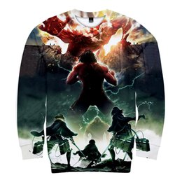 $enCountryForm.capitalKeyWord UK - Anime Attack On Titan 3D Digital Print casual Sweater Pocket Hooded Sweatshirt Big Pockets Hoodie Sweatshirt Long Sleeve coat