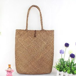 Discount straw tote bucket bag - Women's Shoulder Bags Fashion Designer Lace Handbags Tote Bags Handbag Shopping Straw Bag Summer Style Rattan Cross