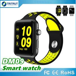 Bluetooth Smart Watch Sim Australia - DM09 Plus Bluetooth Smart Watch Sport Wrist Watch Phone GSM SIM G-Sensor BT4.0 Fitness Tracker wearable device For Android IOS MQ05