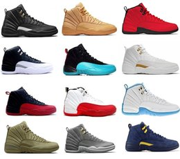 Cheap Authentic Basketball Sneakers Australia - Cheap Basketball Shoes 12 12s Women Men Glass of 2003 NYC wool Winterized Vachetta Tan Black Red Authentic French Blue The Master Sneakers