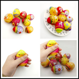 Squeezing Balls Free UK - Easter Gifts Squishy Easter Eggs Slow Rising Jumbo Multicolor Eggs Stress Relieve Animals Ball Toys Squeeze Decompression Toys Cosplay