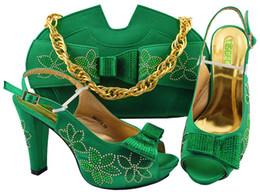 977f4e067 Sapatos italianos com saco de harmonização para o casamento Itália Nigéria  Verde 2019 Sapato e Saco de harmonização Sapatos de casamento africano e Bag  Set ...
