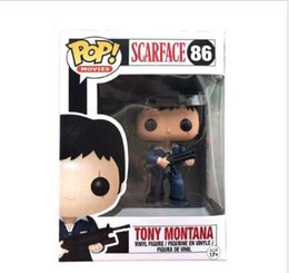 FUNKO POP! # 86 SCARFACE TONY MONTANA VAULTED PENSIONATO Action Figures giocattolo per baby doll in Offerta