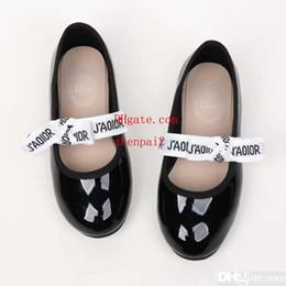 Discount heeled sandals for girls - Girl Sandals white girl wedge platform sandal summer beach slipper for baby girl boy Eu 26-35 send with box