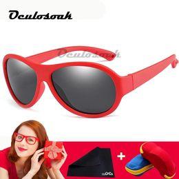 $enCountryForm.capitalKeyWord Australia - Kids Polarized Sunglasses Children Oval Sun Glasses Girls Boys Silicone Uv400 Child Mirror Baby Eyewear Gafas Tr90 With Box