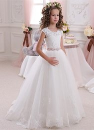 $enCountryForm.capitalKeyWord Australia - 2019 European flower girl lace studded sleeveless jewel wedding dress can be customized color size into the store to choose more styles