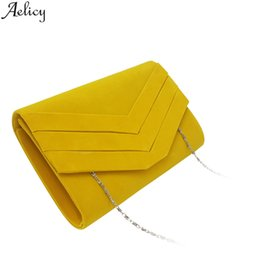 Evening Hand Bags Australia - Aelicy Women Fashion Solid Velour Minaudiere Evening Party Hand Bag High Quality Chains Phone Bag Designed Crossbody New