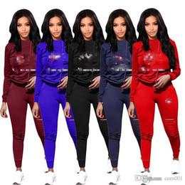 $enCountryForm.capitalKeyWord Australia - 19SS Women's sportswear hoodie + pants 2-piece women's suit plain cut-out women's sweatshirt sweat suit 2019 hot suit