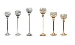 Pillar Candle Chandeliers Australia - New Crystal Metal Candle Tealight Holders Stand Candlesticks Candelabrum for Wedding Party Table Centerpieces Candelabra Home Decoration