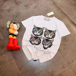 $enCountryForm.capitalKeyWord Australia - 19ss Summer Four Cat Head T-shirts, pure cotton sunshine hydrophilic cotton, skin hydrophilic, comfortable and breathable