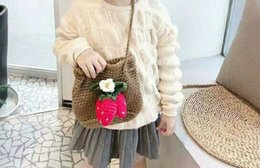 lovely korean cartoon girl NZ - Children's bag girl's lovely slant cross bag 2020 popular Korean children's Princess Yintao wool bag knitting