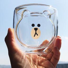 $enCountryForm.capitalKeyWord Australia - NEW Double Layer Coffee Cup Glass Cups and Mugs Cute Animals Tumbler Handmade Cat Mug for Line Kids Girls Dropshipping